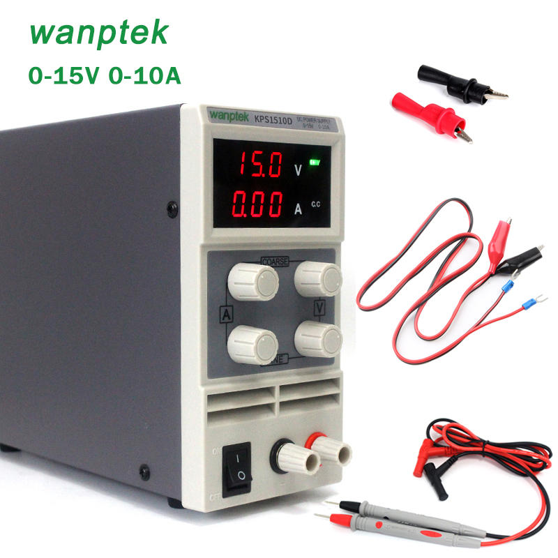 kps1510df 15v 10a digital adjustable dc power supply display mini switching dc power supply for laboratory Wanptek KPS1510D 15V 10A 0.1V0.01A Digital LED portable Adjustable Switching DC laboratory portable power supply