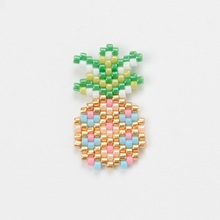 Shinus 50Pcs/lot Miyuki Pineapple Charms Pendant Necklace Bracelet DIY Handmade Jewelry Earrings Accessories