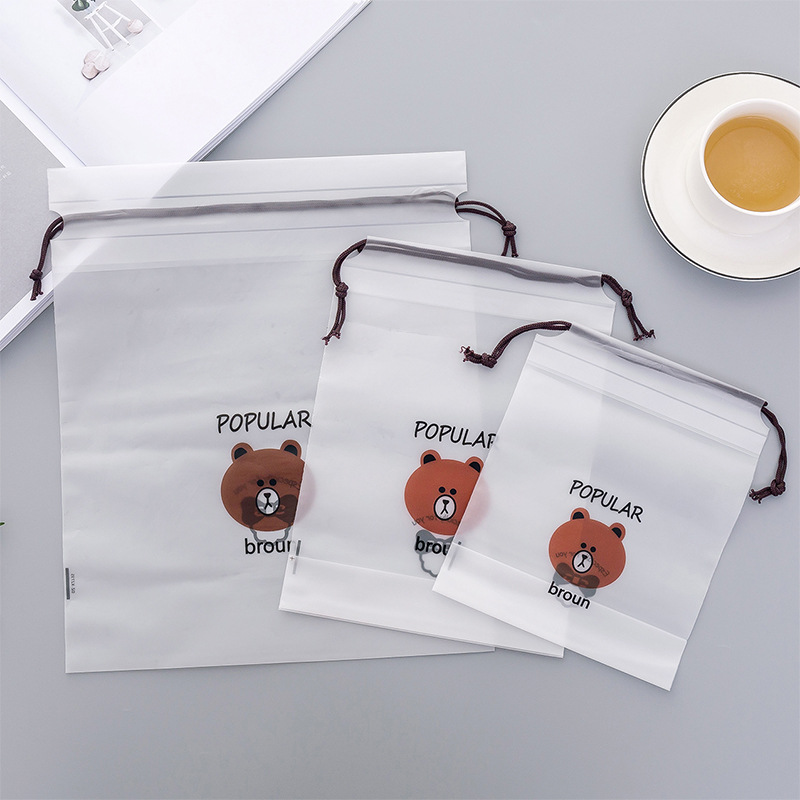 3pcs Bear Transparent Cosmetic Bag Travel Makeup Case Women Make Up Bath Organizer Storage Pouch Toiletry Wash Beaut Kit 10