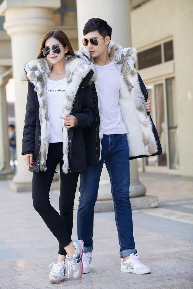 Winter Down Jacket Men Fur Parka Fashion Casual Thicken Warm Fur collar Hooded Men Women jacket&coat couple Down Jacket S-5XL (34)