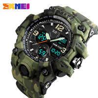 SKMEI Top marque de luxe Sport montre hommes de mode en plein air LED numérique homme montres étanche militaire horloge montre homme