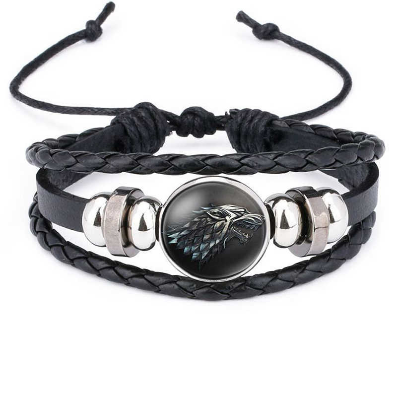 Game of Thrones Leather Bracelet House Stark Targaryen Multilayer Casual Fashion Braided Leather bracelets