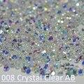 Novo Cristal Duende Para Crystal clear, Crystal clear AB, 3D Prego Micro 1.1-1.3mm Mini Prego Rhinestones Decoração DIY