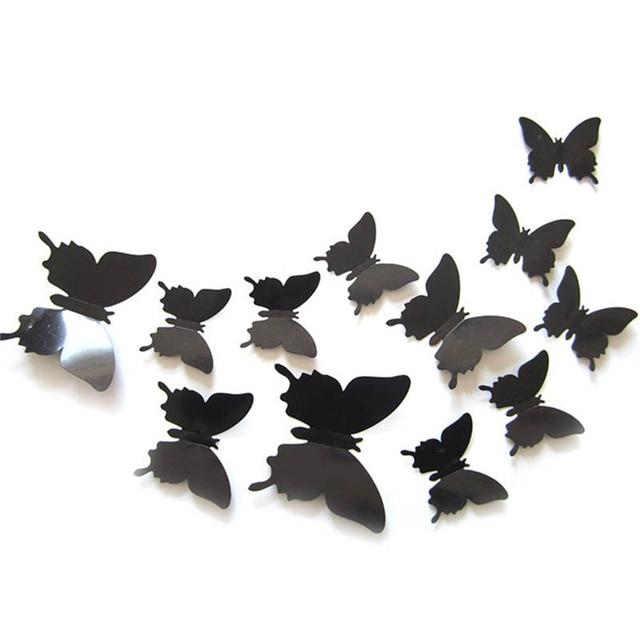 12 stücke 3D Schmetterling Wand Aufkleber Home Decor art ...