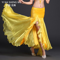 New Lady women Belly Dance Clothes Professional Long Fish Tail Skirts Side Split Wrapped Bellydance Skirt belly dancing wear