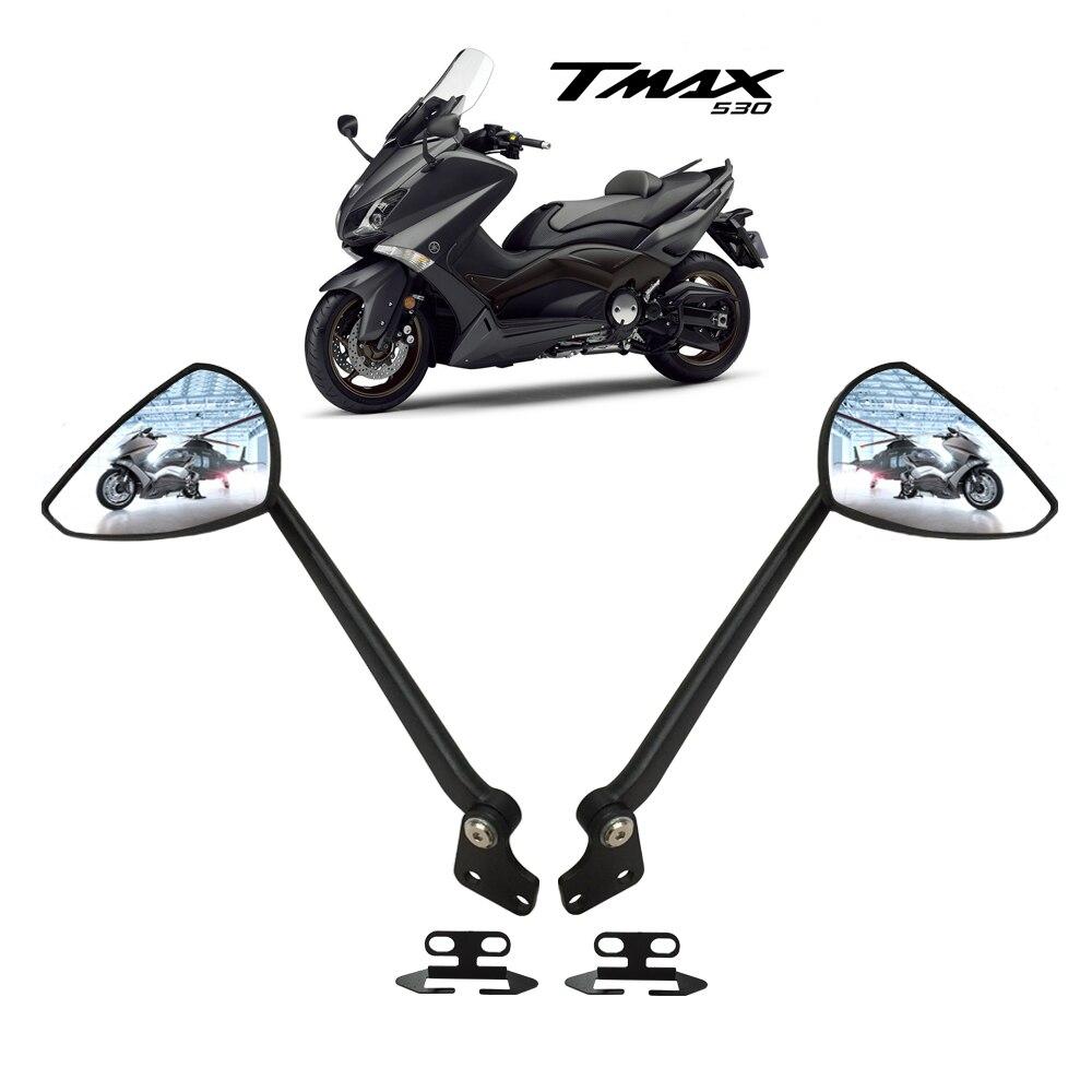 Мотоцикл зеркала для YAMAHA ТМАХ 530 2012-2015 зеркала алюминий (черный)