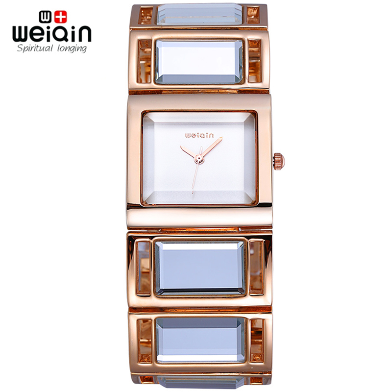 Prix pour Weiqin bande miroir en or Rose montre - bracelet femmes Quartz analogique - montre mode montres 2016 montre bracelet femme relogio feminino