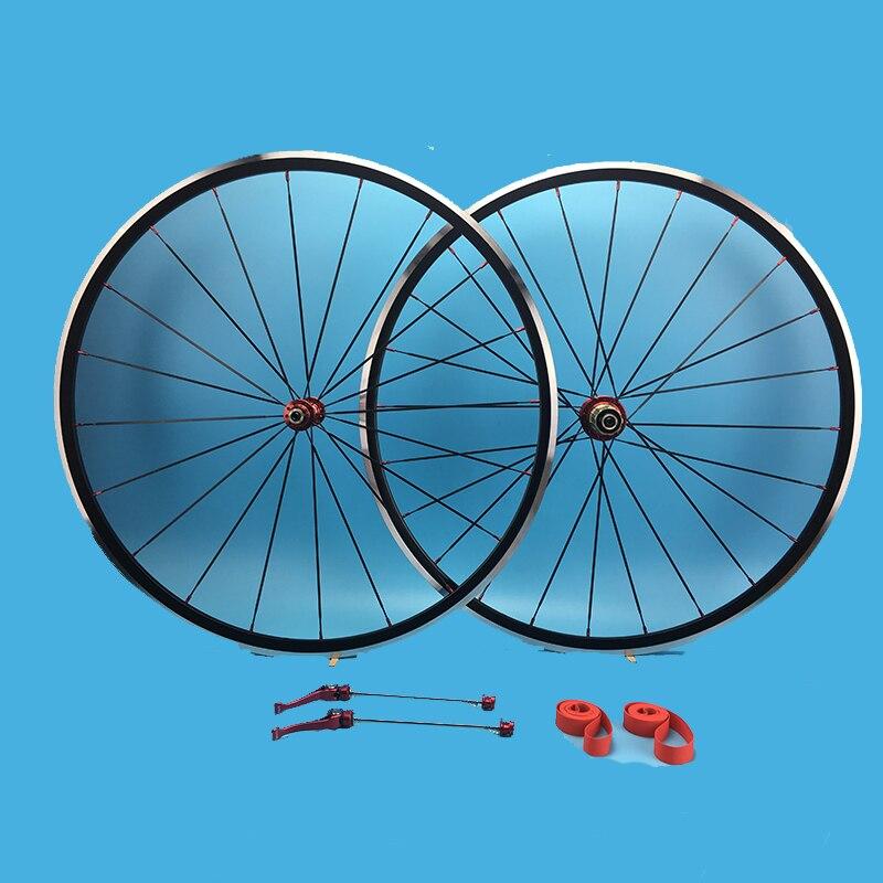 Haut de gamme alliage vélo de route ensemble de pneus route hub une paire complète avant arrière KINLIN XR270 lumière aero rayons 700C jante en aluminium