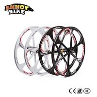 2PC 26 inch Bicycle mountain bike one wheel bearing wheel magnesium alloy Disc Brake wheels