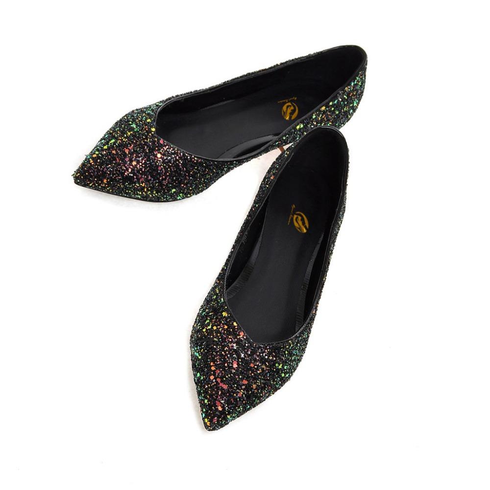 c6505dcc5 Original Intention Women Flats Stylish Pointed Toe Beautiful Glitter ...