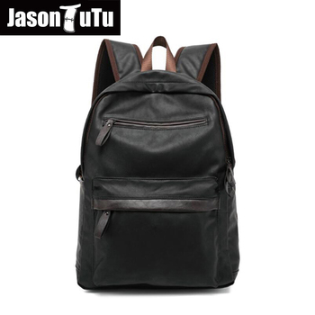 595768908d21 Винтаж Для мужчин рюкзак кожа Школьные сумки для подростка ноутбука  дорожные сумки женские плеча рюкзак черный рюкзак B133