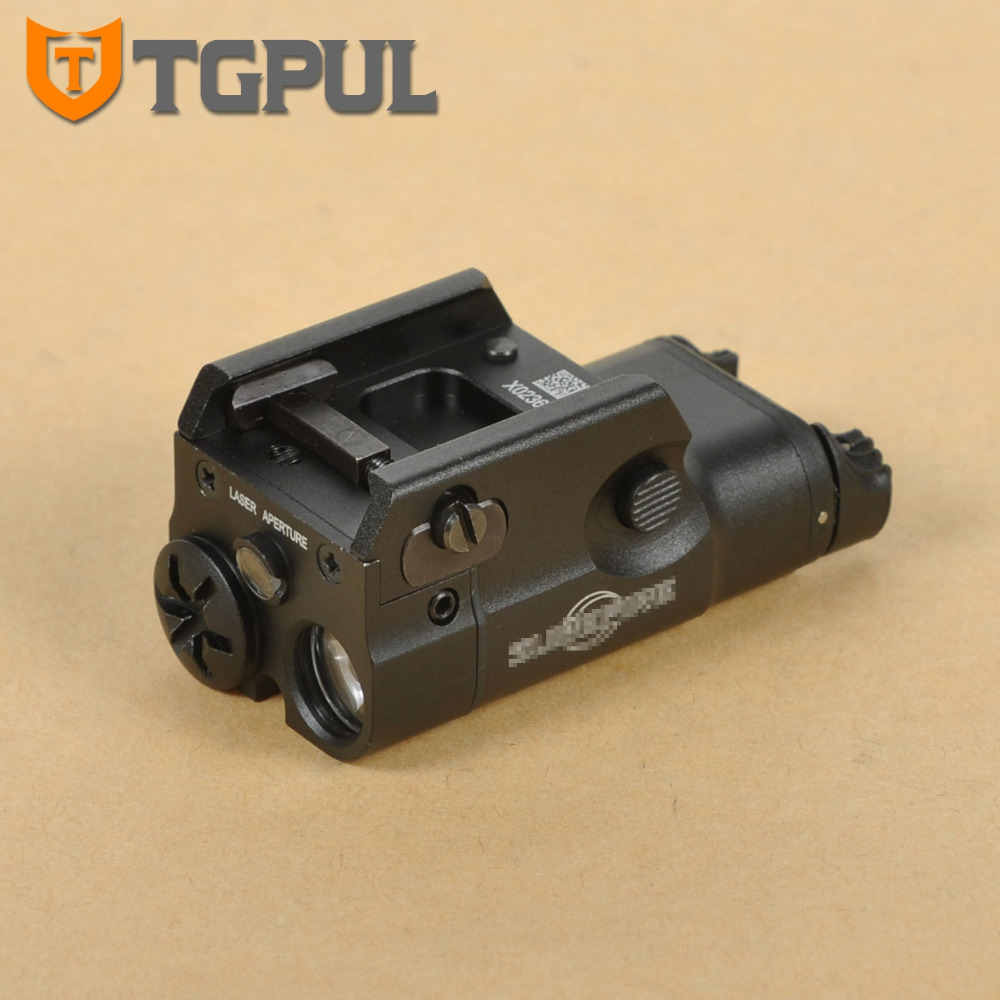 TGPUL XC2 Ultra Compact Pistol Flashlight Constant / Momentary / Red Dot Laser Light LED White Light 200 Lumens Airsoft image