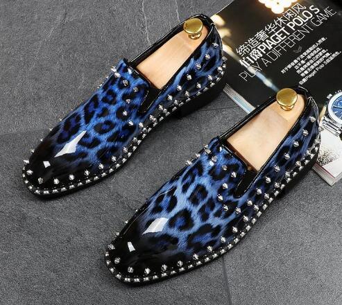 Chaussures Clouté Trendsetter Casual De Grain Rivet Mariage Sapato 02 Léopard Hommes Bal Designer 03 01 Robe Sociale Luxe C4wUq