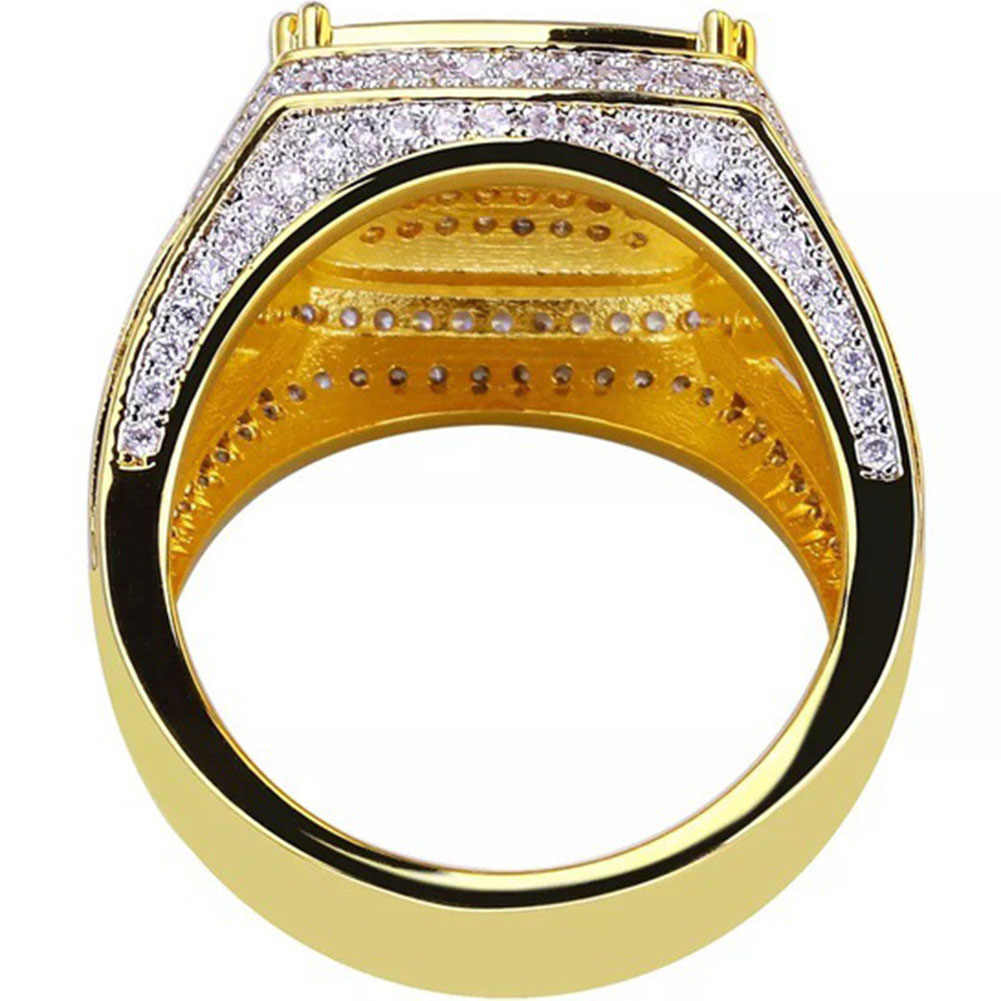 Beauteous Jewelry  Gold Filled Natural White Sapphire Diamond Engagement Wedding Ring