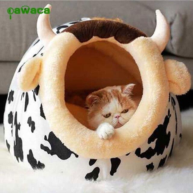 Tamanho do animal de Estimação Cama Do Cão Cama de Animais Criativo 3 Ovelhas Vaca Forma Mat Pet Inverno Quente Ninho Pet Cat Dog Kennel cama Saco de Dormir Sofá Casa