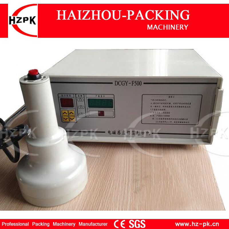 HZPK Handle Type Bottle Induction Sealing Foil Induction Sealer machine Aluminum Foil Sealing Machine For 20-90mm Cap DCGY-F500 цена и фото