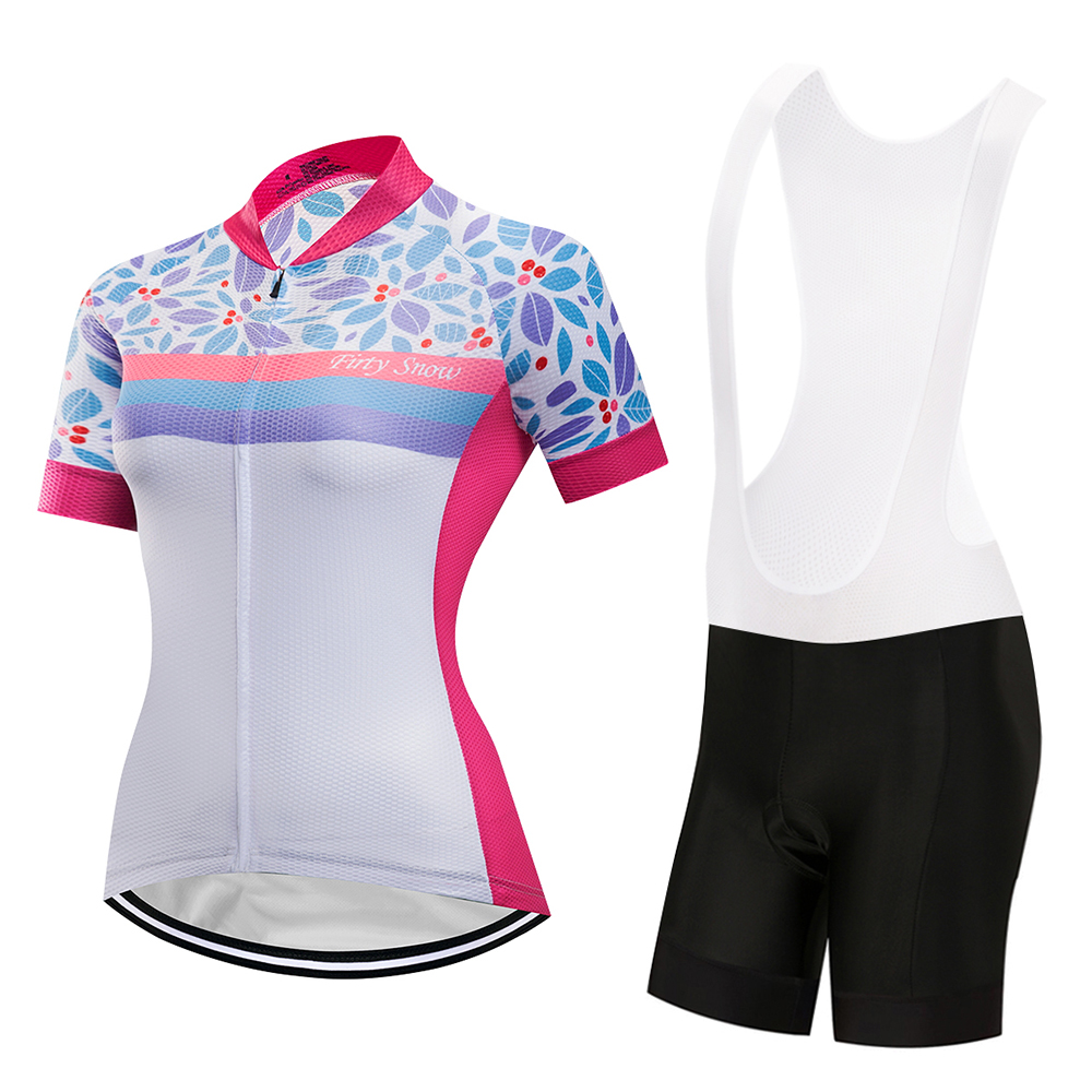 Firty sonw2018cycling jersey bike clothes bib shorts set MTB bicycle wear ropa ciclismo high quality summer women bike clothing