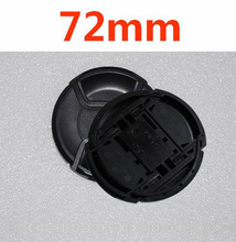 10pcs/lot 72mm center pinch Snap on cap cover LOGO for nikon  72 mm Lens