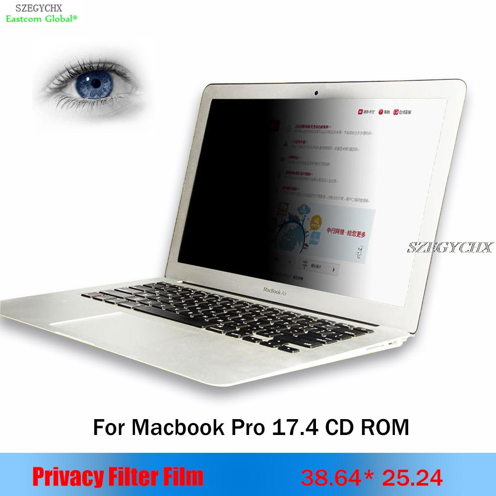 купить For apple Macbook Pro 17.4 inch Privacy Filter Anti-glare screen protective film,For Notebook Laptop 38.64cm*25.24cm по цене 2307.84 рублей