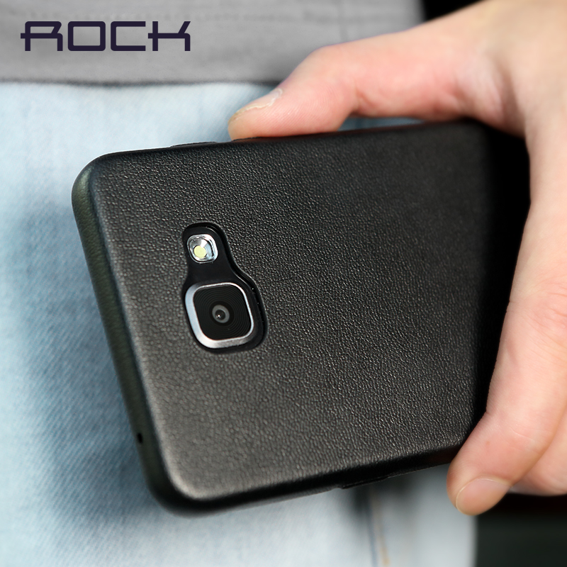 premium selection bdfc3 cc5ac US $7.29 |for Samsung Galaxy A5 2016 Case ROCK PU PU Leather Cover Baby  Skin 360 Protection Flexible Protective Shell for Galaxy A5 2016 on ...