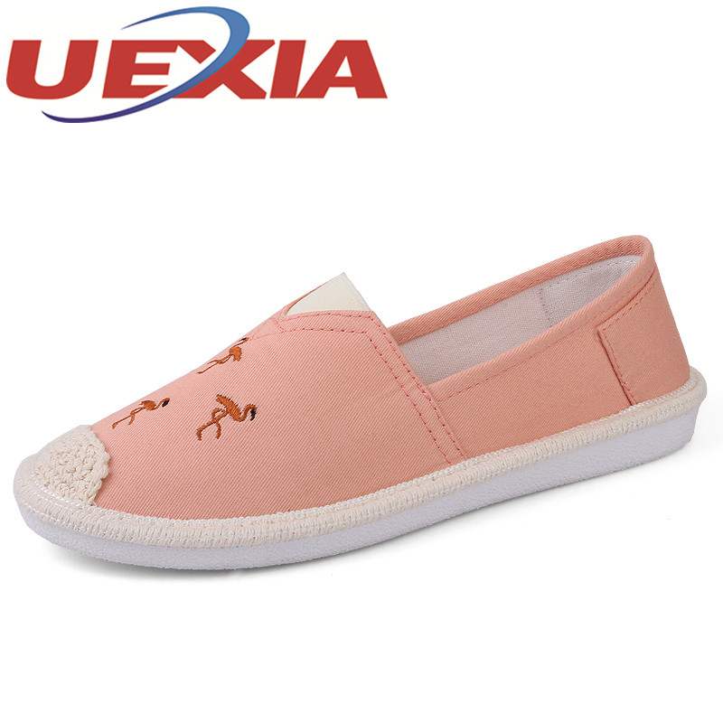 Big Size 35-42 Women Casual Canvas Flat Shoes Summer Fashion Breathable Slip On Walking Shoes For Girls Outdoor Shallow Sneakers e lov women casual walking shoes graffiti aries horoscope canvas shoe low top flat oxford shoes for couples lovers