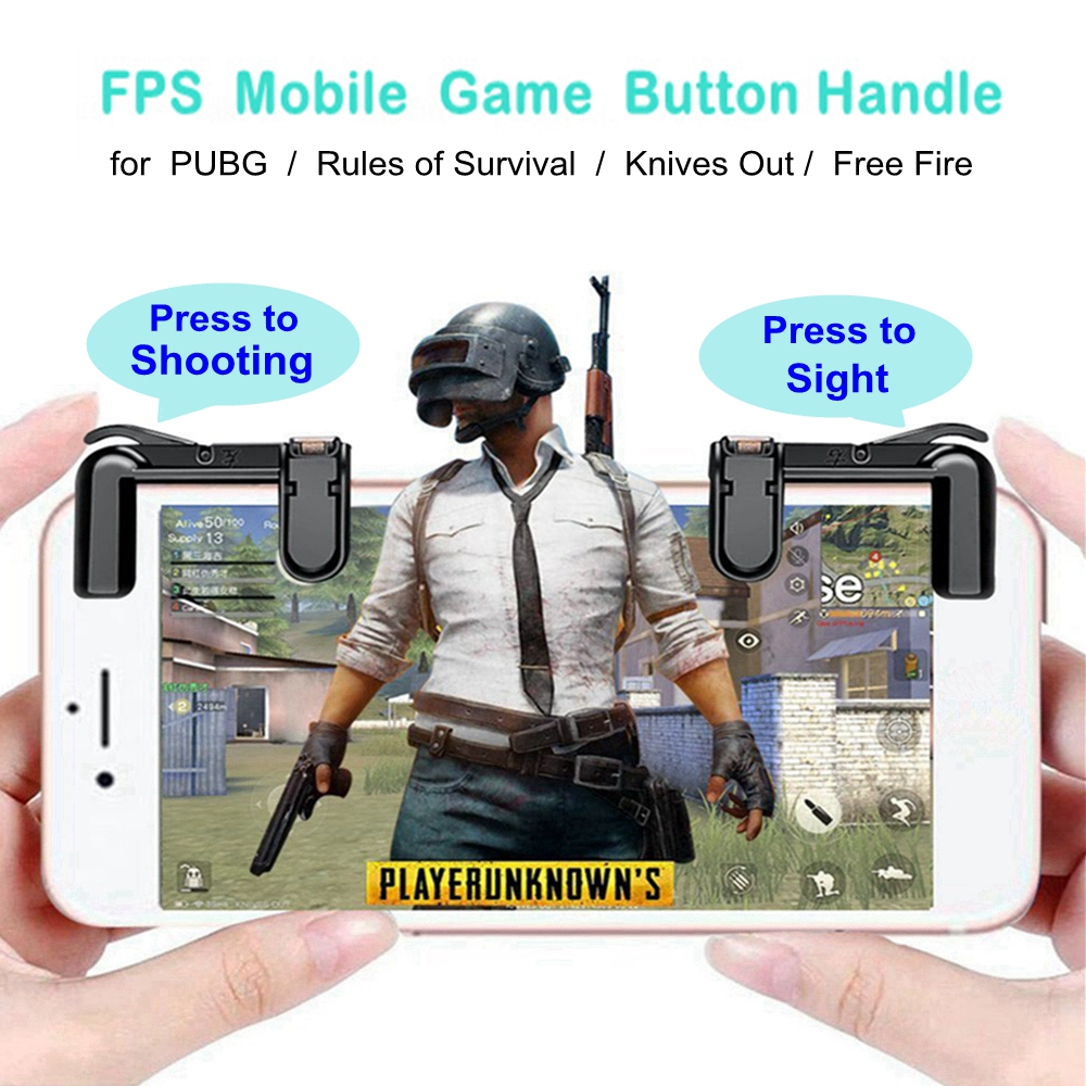 2pcs Free Fire PUBG Mobile Game Shoot Button Triggers L1 R1 Joystick Gamepad Assist Controller Rules of Survival Knives Out FPS