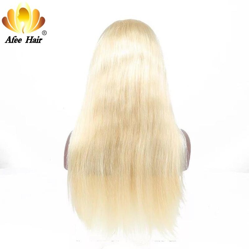 Али Afee волос #613 Цвет бразильский Прямо предварительно сорвал 360 блондинка кружева фронтальной человеческих волос Бесплатная доставка