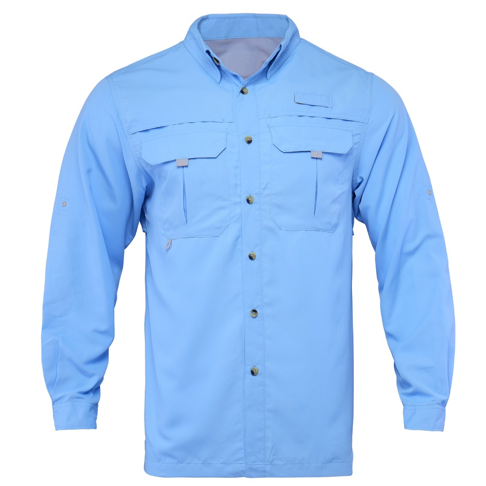 Fishing-Shirt Outdoor Quick-Dry Plus Man Men UPF40 Camisa Usa-Size LS L-XXL