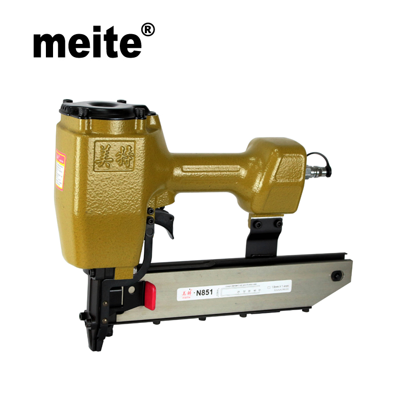 Meite N851G 16GA heavy duty stapler 7/16 crown pneumatic staple nailer gun woodworking tools for furniture Sep.3rd Update поводок для собак happy house luxury цвет темно коричневый длина 125 см