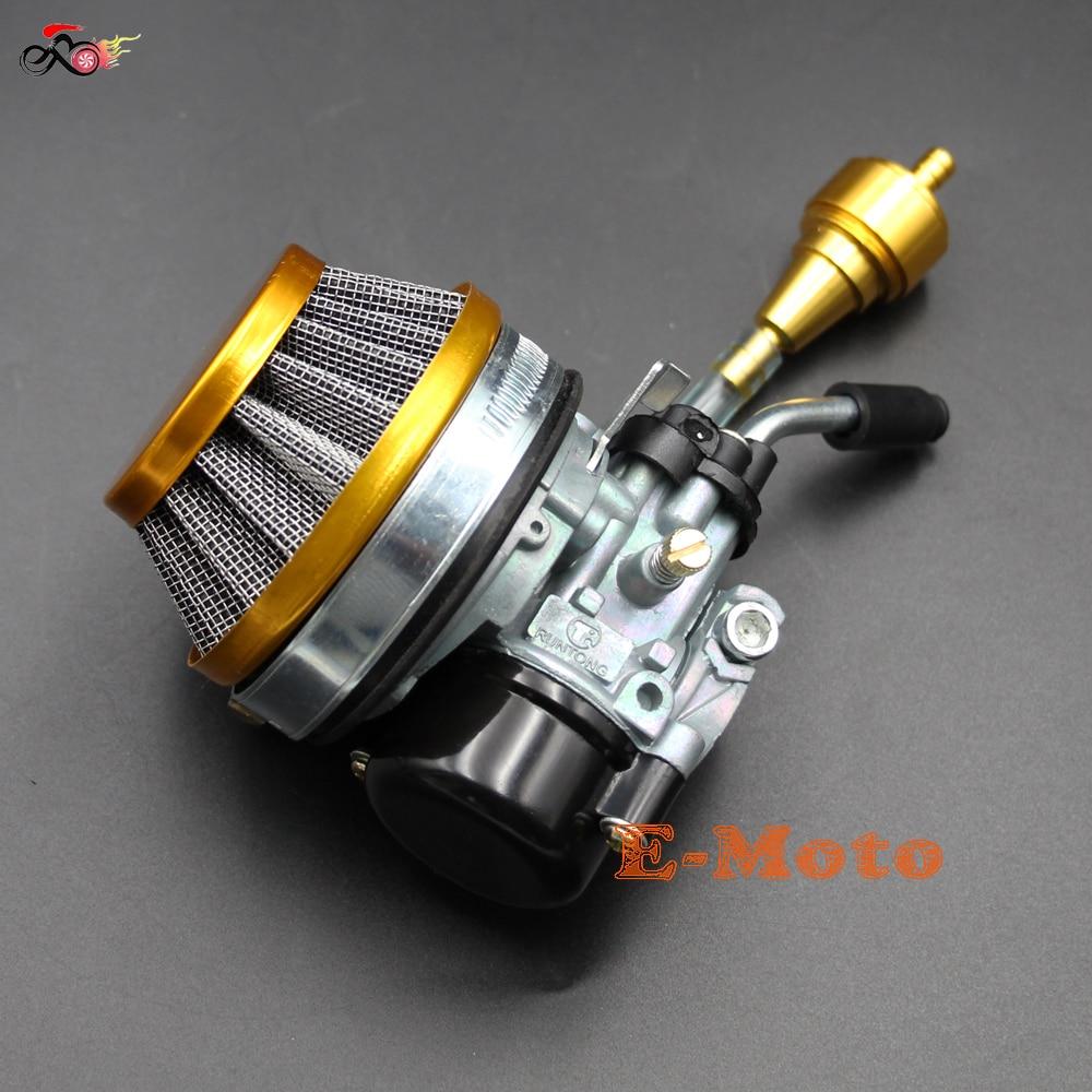 Racing carb carburetor carby Performance Air Filer CNC Fuel Filer For 49 50 60 70cc 80cc 2 stroke motorized bike bicycle E Moto