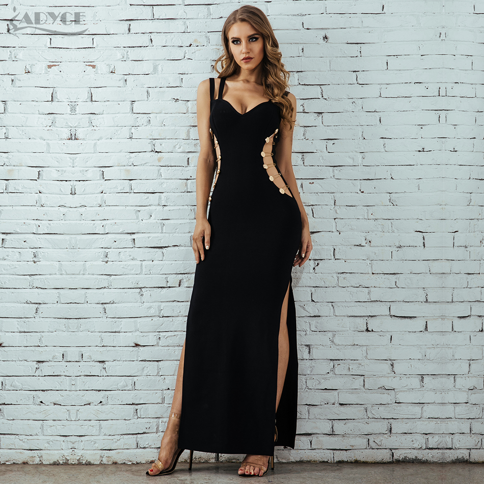 Adyce Summer Women Bandage Dress Vestidos Verano 2019 Celebrity Party Dress Sexy Spaghetti Strap Hollow Out