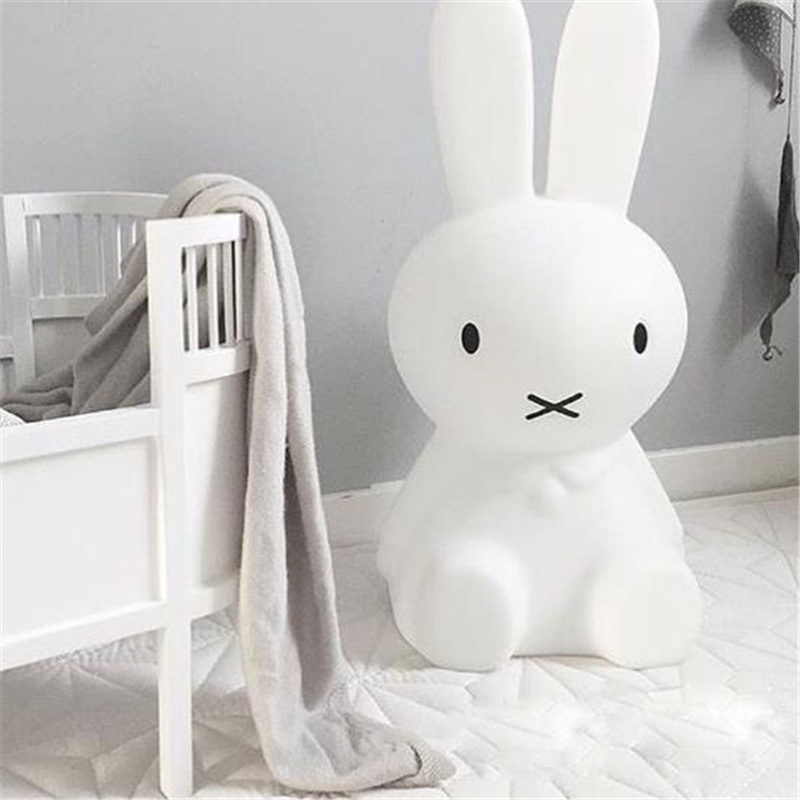 Ins Hot 80cm Rabbit Children LED Bed Table Lamp Baby Bedroom Dimmable LED Night Light for Kids Gift ins hot novelty led rechargeable