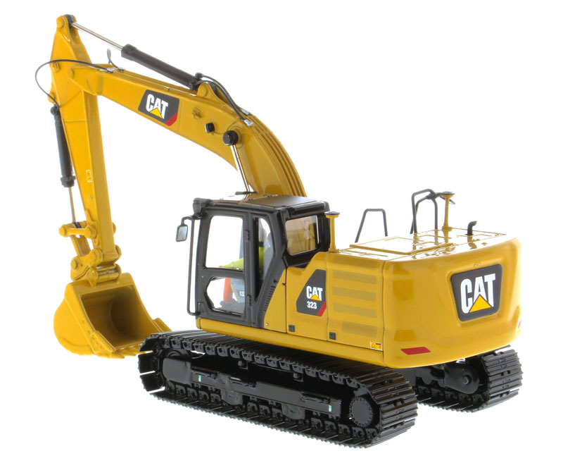 DM 1:50 Caterpillar Cat 323 Hydraulic Excavator Engineering Machinery DieCast Masters 85571 For Collection,Decoration