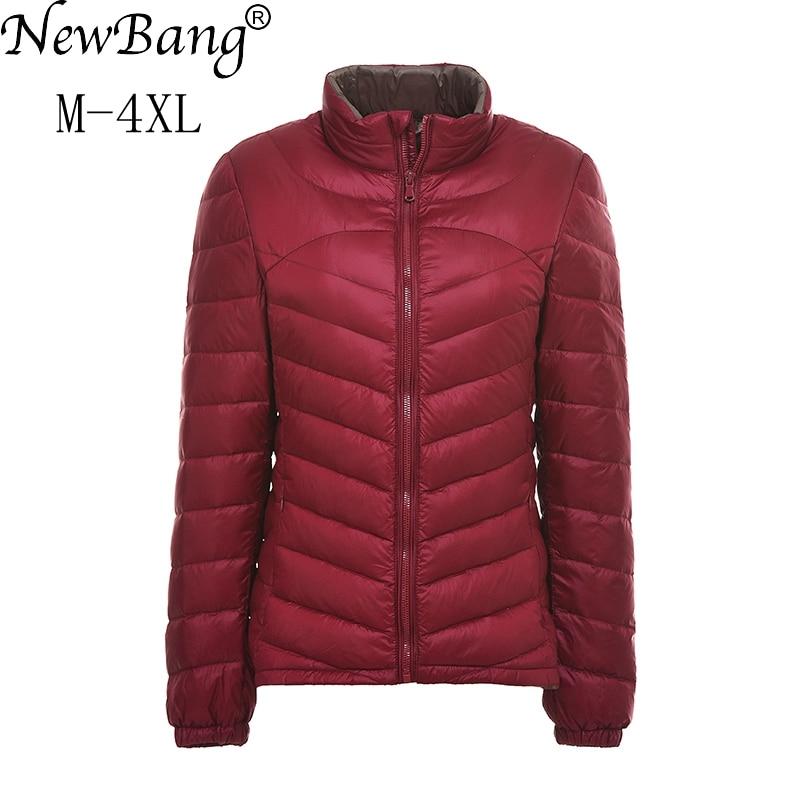 NewBang Brand Ultra Light   Down   Jacket Women Lightweight Portable Slim   Down     Coat   Spring And Autumn Father Windbreaker Jackets