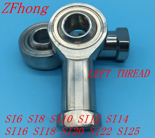 1pc/lot 6mm 8mm 10mm 12mm 14mm 16mm 18mm 20mm 22mm 25mm stainless steel left hand female thread rod end bearing1pc/lot 6mm 8mm 10mm 12mm 14mm 16mm 18mm 20mm 22mm 25mm stainless steel left hand female thread rod end bearing