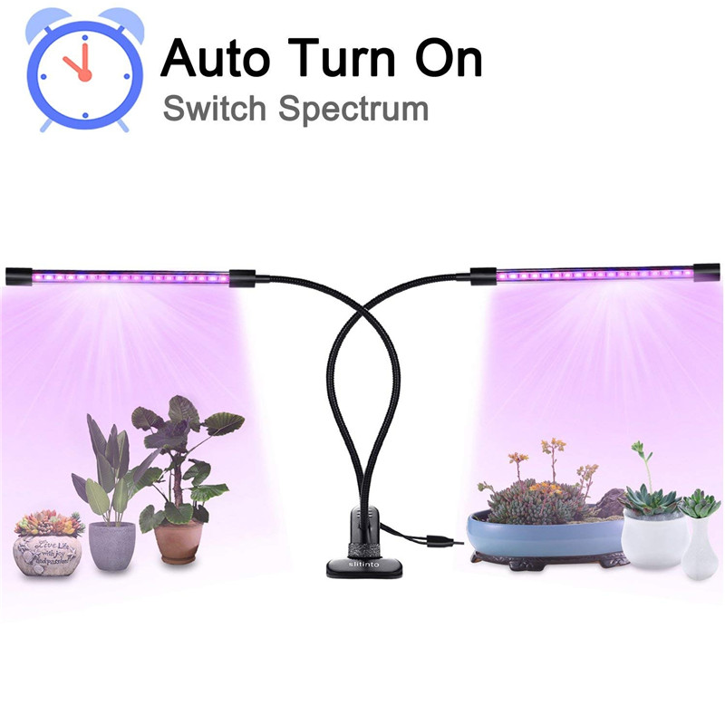 9W 20W 27W Full Spectrum LED Grow Light DC5V Clip-on USB Powered Phyto Lamp Desktop Plant Growth Lightsfor Indoor Flowers Plants