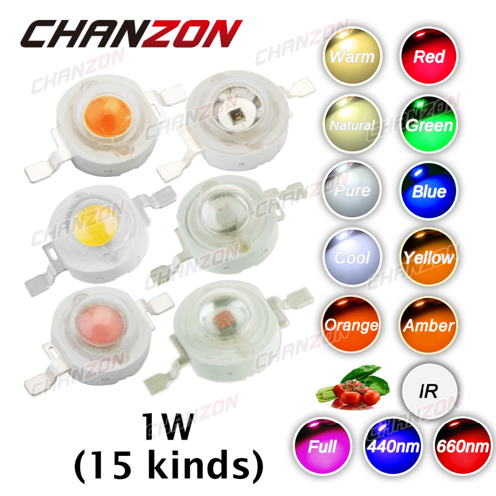 Cool Blue Light Bulbs: 10pcs High Power LED Chip 1W LED 1 W Natural Cool Warm White Red Blue Green,Lighting