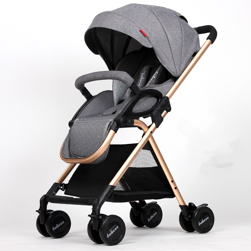 High Landscape Baby Strollers 5.9kg Light Portable Baby Car Newborn Baby Carriage Fold Pram Umbrella Cart,Poussette,Kinderwagen 2008 год ba jiao ting 0830 сырье pu er tea cake китайский юньнань shen puer 357g sheng pu erh pc96 aged puerh лучший органический чай