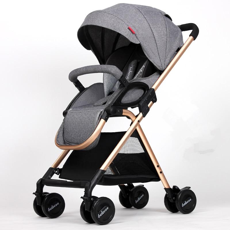 High Landscape Baby Strollers 5.9kg Light Portable Baby Car Newborn Baby Carriage Fold Pram Umbrella Cart,Poussette,Kinderwagen