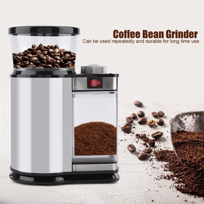 Electric Coffee Grinder Mill Herbs Nuts Salt Pepper Grinder Powerful Spice Seeds Manual Handmade Coffee Bean
