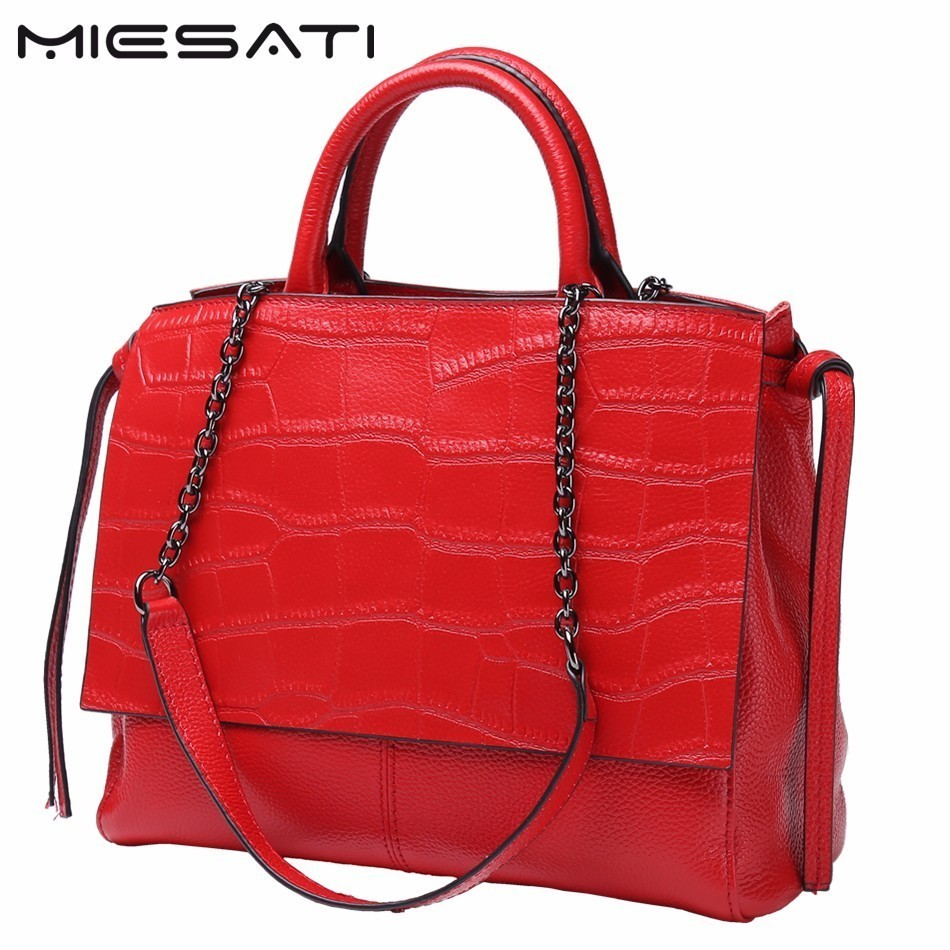 MIESATI Real Cow Leather Women Messenger Bags Ladies HandBags Genuine Leather bags Totes Hign Quality Designer Luxury Brand Bag real cow leather lady handbags women genuine leather bags totes messenger bags hign quality designer luxury brand bag sac a main