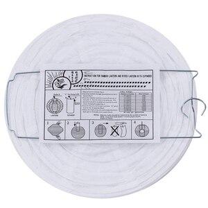 """Image 3 - 20 חבילה סיני לבן מפיון נייר פנס 4 """"6"""" 8 """"10"""" 12 """"לבן תליית פנסי חתונה חג המולד אירוע מסיבת קישוטים"""