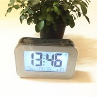 Zwart leuke Led alarm desktop klokken temperatuur backlight datum snooze LED digitale klok lichtsensor xyzTime-9903-black-Clock