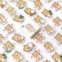 45 pçs/lote Shiba Inu Cão Dos Desenhos Animados Mini Planejador Diário Scrapbook Papel Etiqueta DIY Adesivos Kawaii Papelaria Escolar Suprimentos