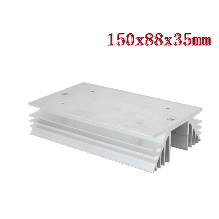 1PCS Aluminum Heat Sink for Solid State Relay SSR Heat Dissipation Three 3 Phase 150 x 88 x 35mm 1pc single phase solid state relay ssr aluminum heat sink dissipation radiator newest suitable for 10a 40a relay