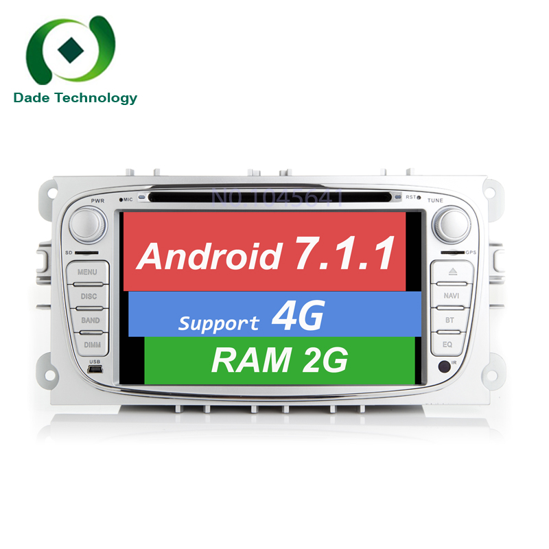 imágenes para 7.1.1 2Din Android Quad Core HD 1024*600 Coche Reproductor de DVD para Ford Focus Mondeo S-max Cmax Galaxy Radio Audio car Stereo Head unidad