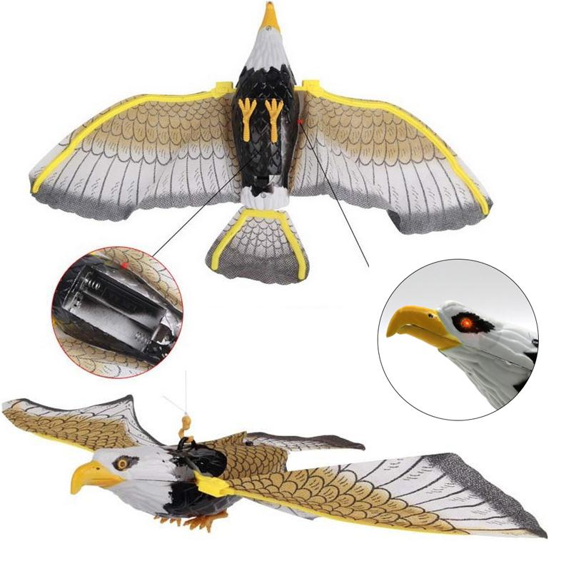 Electronic Eagle Sling Hovering Hawk Birds Toy with Flashing Sounding Electrical Pet kids Christmas Gifts