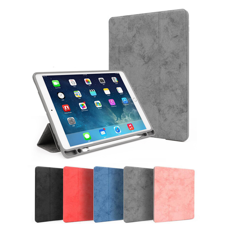 Case For iPad 9.7 inch 2018 2017 With Pencil Holder For iPad Air 1 2 Protective Stand Cover Magnet Auto Sleep/Wake Case цена