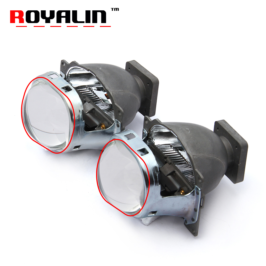 ROYALIN 3.0 Bixenon Q5 Square HID Projector Xenon Lenses in Headlights for D1S D1H D2S D2H D3S D3H D4S Car Hi/Lo Running Lights q5 3 0 inches bi xenon projector lens car hid headlight modify reflector hi lo beam for d2h d2s d1s d3s