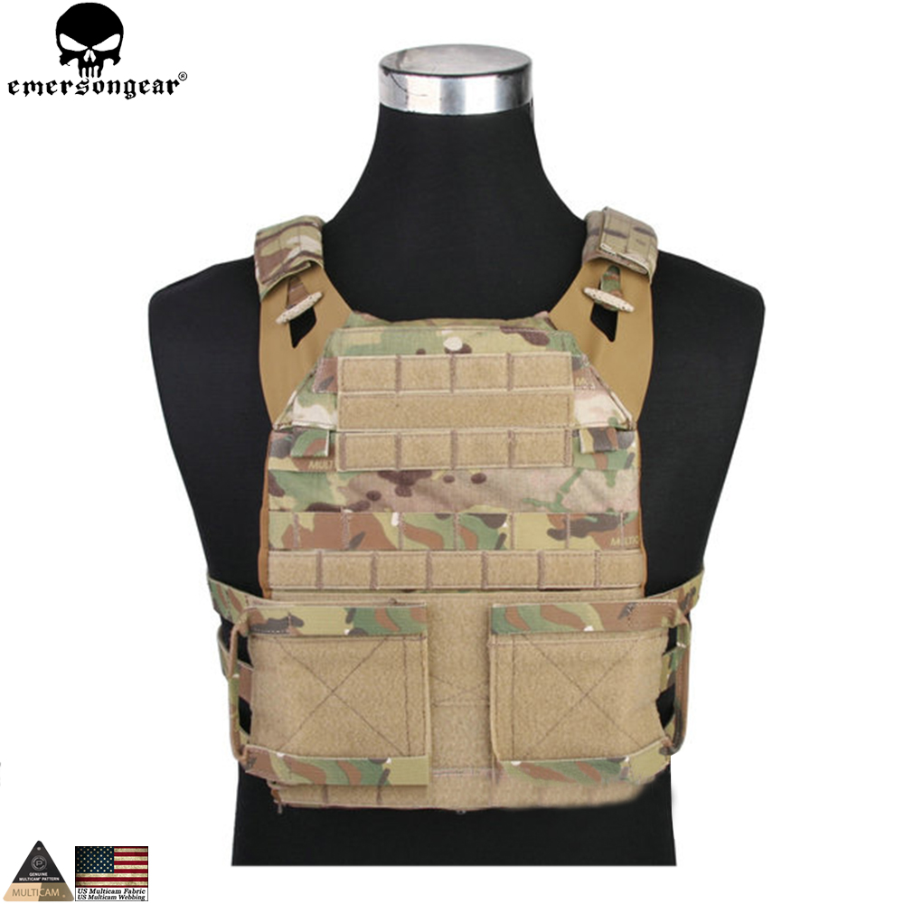 EMERSONGEAR JPC 2.0 Tactical Vest CP Style with Chest Protective Plate Carrier Combat Military Hunting Safety Molle Vest EM7436